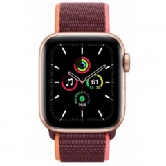 Apple Watch SE GPS + Cellular 40mm Gold Aluminum Case with Plum Sport L. (MYEC2/MYEJ2)