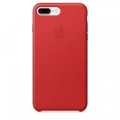 Apple iPhone 7 Plus Leather Case - (PRODUCT)RED (MMYK2)