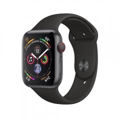 Apple Watch Series 4 GPS + LTE 44mm Gray Alum. w. Black Sport b. Gray Alum. (MTUW2)