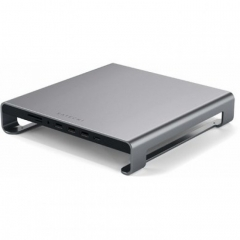 Satechi Aluminum Monitor Stand Hub Space Gray for iMac (ST-AMSHM)