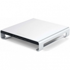Satechi Aluminum Monitor Stand Hub Silver for iMac (ST-AMSHS)