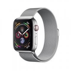Apple Watch Series 4 GPS + LTE 44mm Steel w. Milanese l. Steel (MTV42)