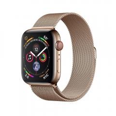Apple Watch Series 4 GPS + LTE 44mm Gold Steel w. Gold Milanese l. Gold Steel (MTV82)