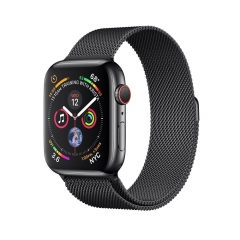 Apple Watch Series 4 GPS + LTE 44mm Black Steel w. Black Milanese l. Black Steel (MTV62)