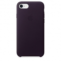 Apple iPhone 8 / 7 Leather Case - Dark Aubergine (MQHD2)