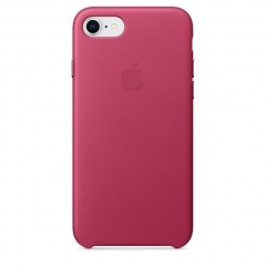 Apple iPhone 7 Leather Case - Pink Fuchsia (MQHG2)
