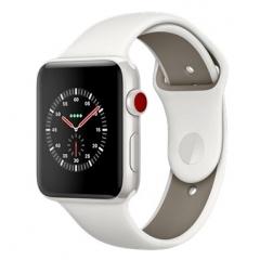 Apple Watch Edition Series 3 GPS + Cellular 42mm White Ceramic w. Soft White/Pebble Sport B. (MQKD2)