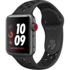 Apple Watch Nike+ Series 3 GPS + Cellular 38mm Space Gray Aluminum w. Anthracite/BlackSport B. (MQL62)