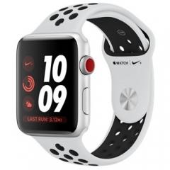 Apple Watch Nike+ Series 3 GPS + Cellular 42mm Silver Aluminum w. Pure Platinum/BlackSport B. (MQLC2)