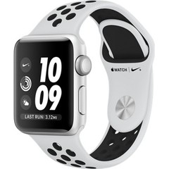 Apple Watch Nike+ Series 3 (GPS) 38mm Silver Aluminum w. Pure Platinum/BlackSport B. (MQKX2)