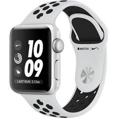 Apple Watch Nike+ Series 3 (GPS) 42mm Silver Aluminum w. Pure Platinum/BlackSport B. (MQL32)