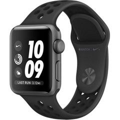 Apple Watch Nike+ Series 3 (GPS) 42mm Space Gray Aluminum w. Anthracite/BlackSport B. (MQL42)