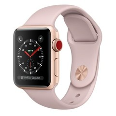 Apple Watch Series 3 GPS + Cellular 38mm Gold Aluminum w. Pink Sand Sport L. (MQJU2)
