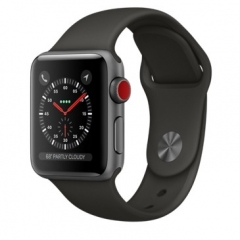 Apple Watch Series 3 GPS + Cellular 38mm Space Gray Aluminum w. Gray Sport B. (MR2W2)
