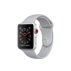 Apple Watch Series 3 (GPS + Cellular) 42mm Silver Aluminum w. Fog Sport B. (MQK12)
