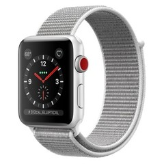 Apple Watch Series 3 (GPS + Cellular) 42mm Silver Aluminum w. Seashell Sport L. (MQK52)