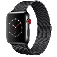 Apple Watch Series 3 (GPS + Cellular) 42mm Space Black Stainless Steel w. Space Black Milanese L. (MR1L2)