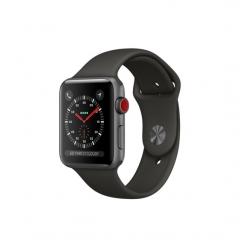 Apple Watch Series 3 GPS + Cellular 42mm Space Gray Aluminum w. Gray Sport B. (MR2X2)