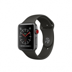 Apple Watch Series 3 GPS + Cellular 42mm Space Gray Aluminum w. Gray Sport B. (MR2X2)