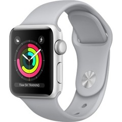 Apple Watch Series 3 (GPS) 38mm Silver Aluminum w. Fog Sport B. - Silver (MQKU2)