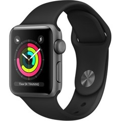 Apple Watch Series 3 (GPS) 42mm Space Gray Aluminum w. Black Sport B(MQL12, MTF32)
