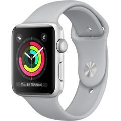 Apple Watch Series 3 (GPS) 42mm Silver Aluminum w. Fog Sport B. - Silver (MQL02)