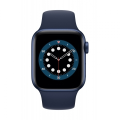 Apple Watch Series 6 GPS + Cellular 40mm Blue Aluminum Case w. Deep Navy Sport B. (M02R3/M06Q3)