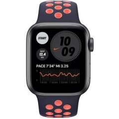Apple Watch Nike Series 6 GPS + Cellular 40mm Space Gray Aluminum w. Black/Bright Mango Sport B. (MG3X3/M0H63)