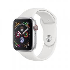 Apple Watch Series 4 GPS + LTE 44mm Aluminum Case w. White Sport B. (MTUU2)