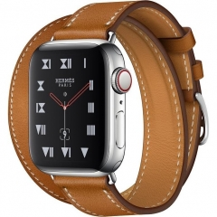 Apple Watch Hermes Series 4 GPS + Cellular 40mm Fauve Barenia Leather Double Tour (MU6P2)