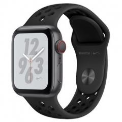 Apple Watch Series 4 Nike+ GPS + Cellular 40mm Gray c. w. Black Nike Sport b. (MTXG2)