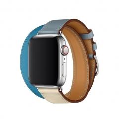 Apple Watch Series 4 Hermes GPS + LTE 40mm Steel Case w. Bleu Lin/Craie/Bleu du Nord (H078731CJAD)