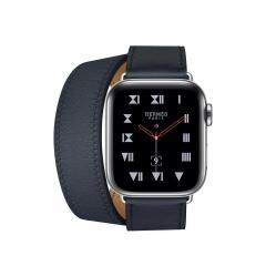 Apple Watch Series 4 Hermes GPS + LTE 40mm Steel w. Bleu Indigo Double Tour (MU6Q2)