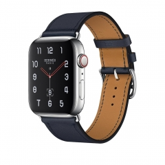 Apple Watch Series 4 Hermes GPS + LTE 44mm Steel w. Bleu Indigo (MU6W2)