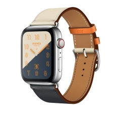 Apple Watch Series 4 Hermes GPS + LTE 44mm Steel w. Indigo/Craie/Orange (MU6X2)