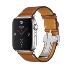 Apple Watch Hermes Series 4 GPS + Cellular 44mm Stainless Steel w. Fauve Barenia Leather (MU6T2)
