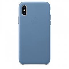 Apple iPhone XS Leather Case - Cornflower (MVFP2)