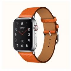 Apple Watch Series 4 Hermes GPS + LTE 40mm Steel Case w. Feu Epsom (H077058CJ9J)