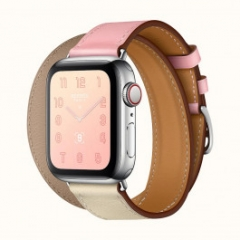 Apple Watch Series 4 Hermes GPS + LTE 40mm Steel Case w. Rose Sakura/Craie/Argile Swift (H078731CJAE)