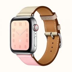 Apple Watch Series 4 Hermes GPS + LTE 40mm Steel Case w. Rose Sakura/Craie/Argile Swift (H078727CJAE)