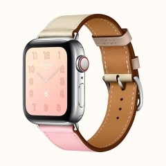 Apple Watch Series 4 Hermes GPS + LTE 40mm Steel Case w. Rose Sakura/Craie/Argile Swift (H078727CJAE)