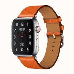 Apple Watch Series 4 Hermes GPS + LTE 44mm Steel Case w. Feu Epsom (H077053CJ9J)