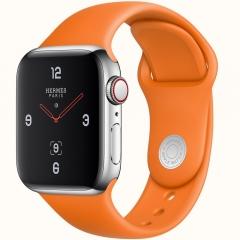 Apple Watch Series 4 Hermes GPS + LTE 44mm Stainless Case w. Orange Sport B. (MUH02)