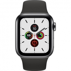 Apple Watch Series 5 LTE 40mm Space Black Steel w. Black b.- Space Black Steel (MWWW2)