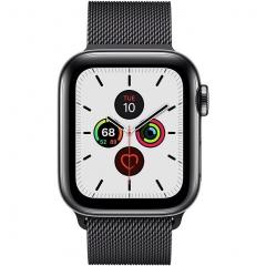Apple Watch Series 5 LTE 40mm Space Black Steel w. Space Black Milanese Loop - Space Black Steel (MWWX2)