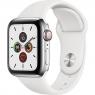 Apple Watch Series 5 LTE 40mm Steel w. White b.- Steel (MWWR2)