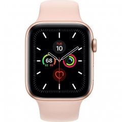 Apple Watch Series 5 LTE 44mm Gold Aluminum w. Pink Sand b.- Gold Aluminum (MWW02)