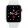 Apple Watch Series 5 LTE 44mm Silver Aluminum w. White b.- Silver Aluminum (MWVY2)