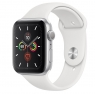 Apple Watch Series 5 LTE 44mm Silver Aluminum w. White b.- Silver Aluminum (MWVY2)
