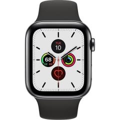 Apple Watch Series 5 LTE 44mm Space Black Steel w. Black b.- Space Black Steel (MWW72)